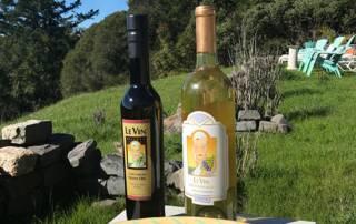 Wine Bottles of Le Vin Winery