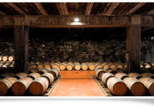 Cellar room of Marchesi di Gresy winery