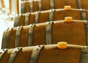 Wine Barrels Of The Perla Del Garda Winery