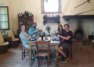 Group Of People Tasting Wine At Piemaggio Winery