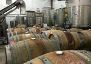 Cellar Of The Pierce Ranch Vineyards Winery
