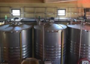 Fermentation Tanks Inside The Podere L Aja Societa Agricola Winery