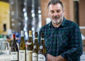 winemaker of sandro de bruno with different wines