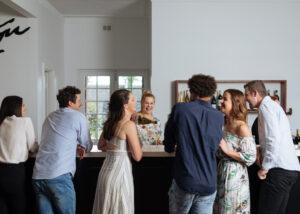 A group of People enjoying Elderton Wines