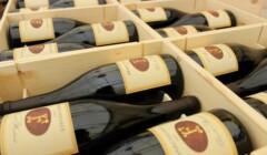 bottles of wine by terre del marchesato in wooden box
