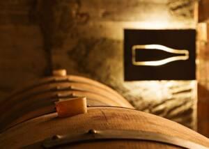 A Line of Vins El Cep Wine Barrels