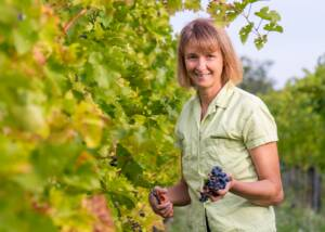 The Owner in the Fields of Wassmann Biodynamic Wines Villany