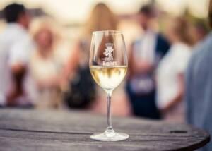 A Glass of Weingut Egert Wine