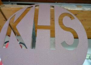 Initials Signboard of Weingut KHS