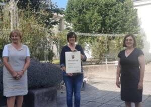 Three Woman Posing At Weingut Thomas Bischmann-Winery