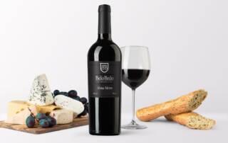 A bottle of Belo Brdo Wine