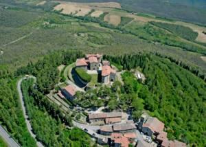 Aerial View of Castello di Montegiove Estates