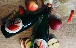 Wine Bottle Display at Entre Deux Monts
