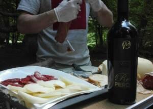 wine tasting at Fattoria Colmone Della Marca winery