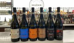 Display of Kruger Rumpf Wine Bottles