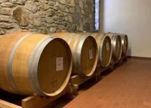 Barrels of Podere la ja in Chianti, Tuscany, Italy