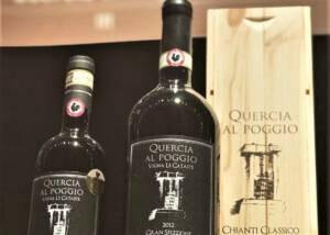 A bott le of Quercia al Poggio Wine