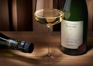 A bottle of Recaredo Wine