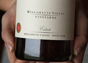 Willamette Valley Vineyards At Tualatin Estate Wine Bottle
