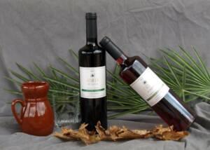 Bottles of Biopaumera Wine