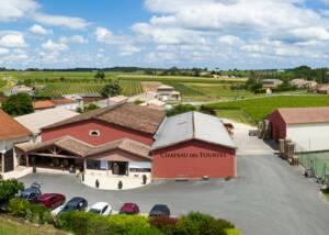Aerial View of the Château des Tourtes Estates