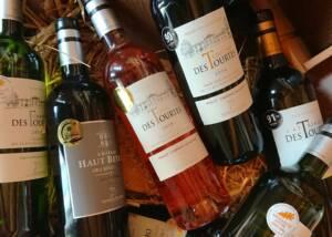 Bottles of Château des Tourtes Wine