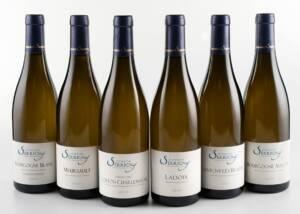 A Display of Domaine Serrigny Francine & Marie-Laure Wine Bottles