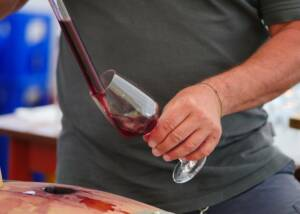 Weinmanufaktur Mario Josef Burkhart Wine Being Poured