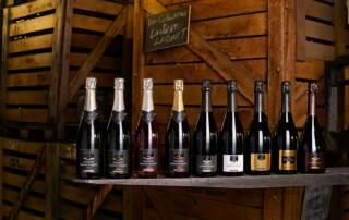 Wine Bottles of Champagne Laurent Lequart