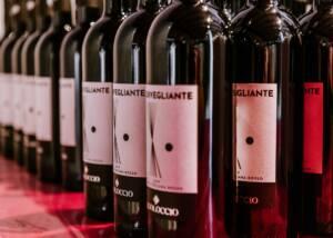 Beautiful Display of Rigoloccio Wine Bottles