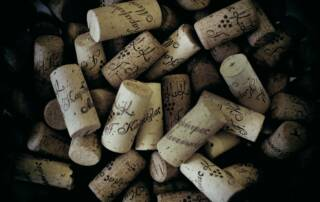 Wine Bottle Corks of Winery Monsieur Nicolas by G. Karamitros