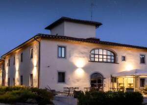 Building of Fattoria La Palagina in Evening Light