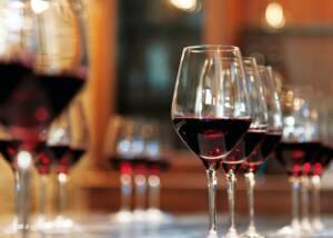 Glasses of Poggio di Sotto Wine