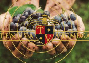 The Logo and Black Grapes of Tenuta Vignega