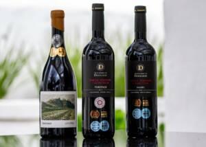 Bottles of Doolhof Wine Estate
